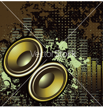 Free concert poster with speakers vector - Kostenloses vector #249075