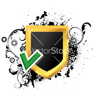 Free gold shield with grunge vector - Kostenloses vector #249105