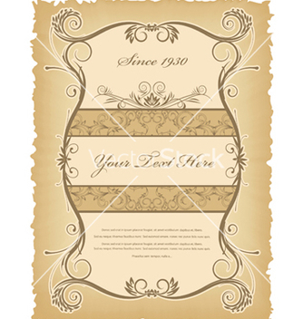 Free vintage label vector - бесплатный vector #249125