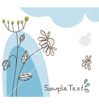 Free doodles floral background vector - Free vector #249245