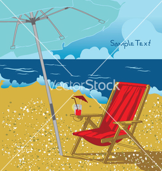 Free summer background with long chair vector - Free vector #249355