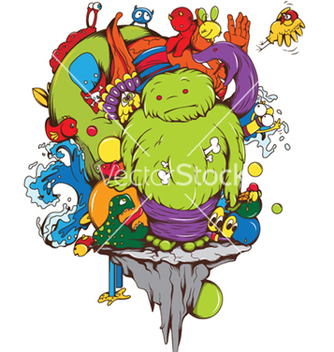Free funny monsters vector - Free vector #249655