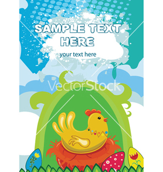 Free easter background with hen vector - бесплатный vector #249715