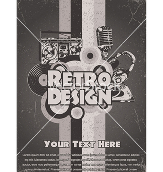 Free retro music poster vector - бесплатный vector #249725