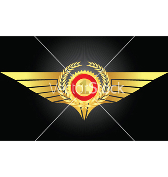 Free vintage emblem with gold wings vector - vector gratuit #249895