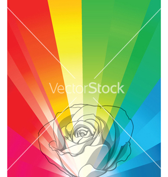 Free flower with rays vector - vector gratuit #249965
