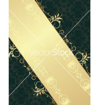 Free vintage gold floral background vector - Kostenloses vector #250205