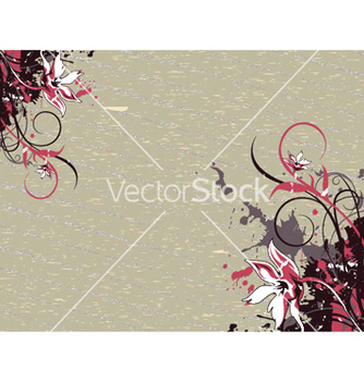 Free grunge floral background vector - vector gratuit #250275