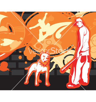 Free gangster with grunge background vector - vector gratuit #250385