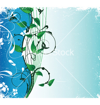 Free abstract floral background with space for text vector - vector #250425 gratis