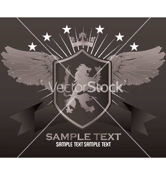 Free vintage emblem with lion vector - Kostenloses vector #250565