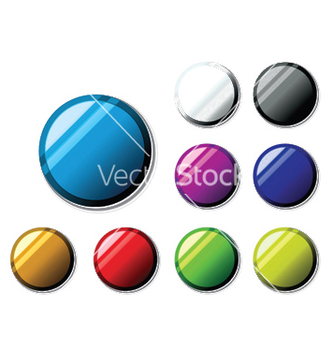 Free glossy buttons set vector - Free vector #250675