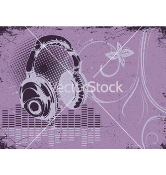 Free concert poster with headphones vector - Free vector #250715
