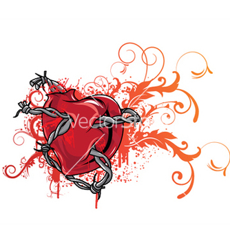 Free heart with floral vector - Free vector #250785