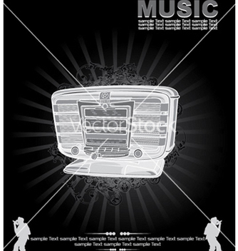 Free music background vector - vector gratuit #250825