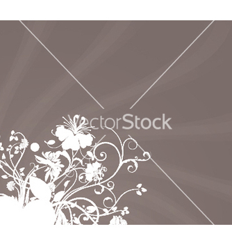 Free rays with floral vector - vector gratuit #250915