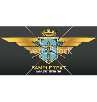 Free vintage crest vector - Free vector #251015