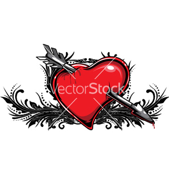 Free heart with floral vector - Free vector #251065