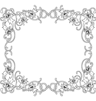 Free floral frame vector - Kostenloses vector #251095