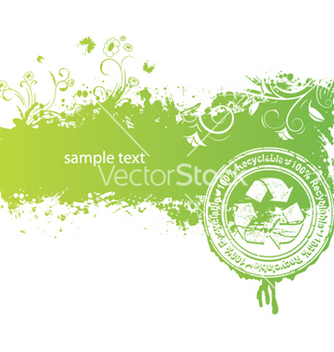 Free green background with stamp vector - Free vector #251215