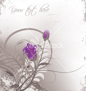 Free grunge floral background vector - бесплатный vector #251235