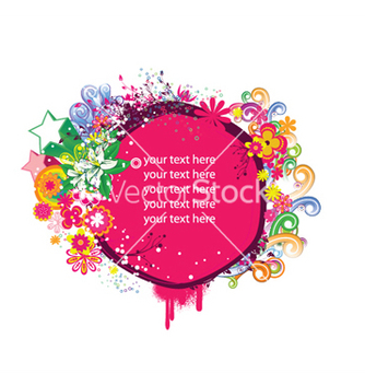 Free spring floral frame with stars vector - Free vector #251245