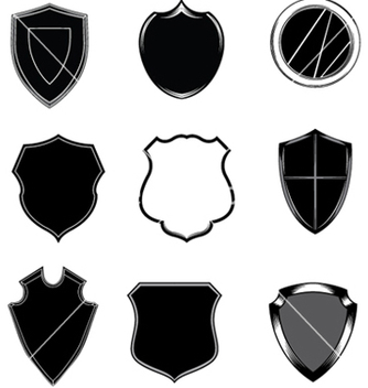 Free shield set vector - Free vector #251295