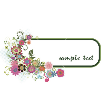 Free floral frame vector - Kostenloses vector #251455