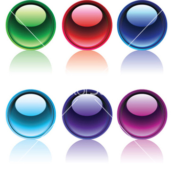Free glossy buttons set vector - бесплатный vector #251505