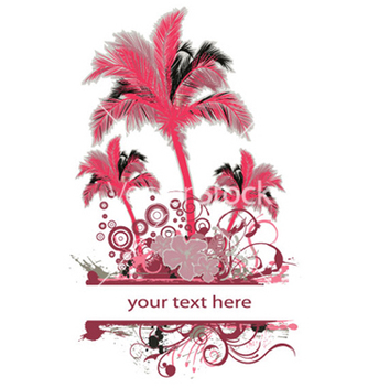 Free palm trees with grunge vector - vector #251555 gratis