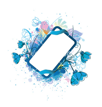 Free watercolor floral frame vector - бесплатный vector #251925