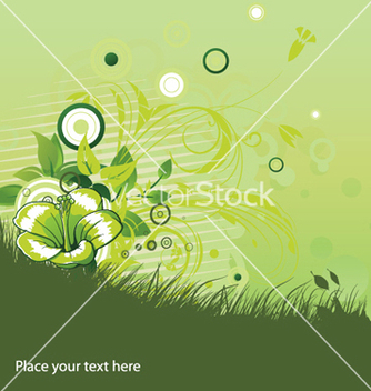 Free floral background with circles vector - Free vector #252025