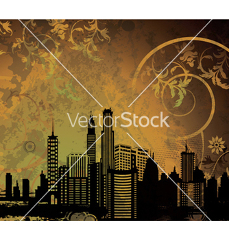 Free city with grunge vector - vector gratuit #252105