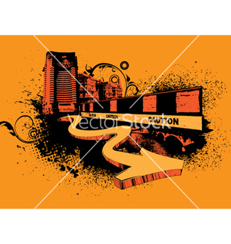 Free urban poster with 3d arrow vector - Free vector #252115