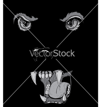 Free tshirt design with raging panther vector - Free vector #252235