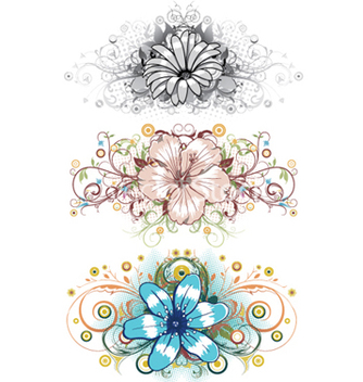 Free design floral elements vector - vector gratuit #252275