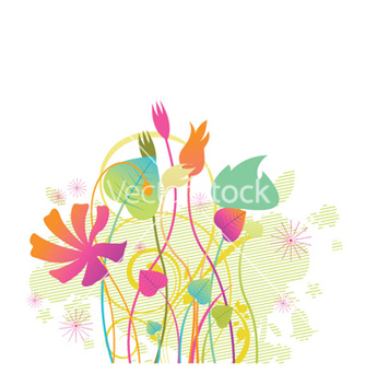 Free abstract floral vector - Free vector #252325