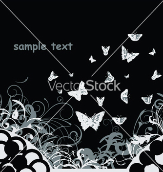 Free vintage floral background with butterflies vector - Kostenloses vector #252365