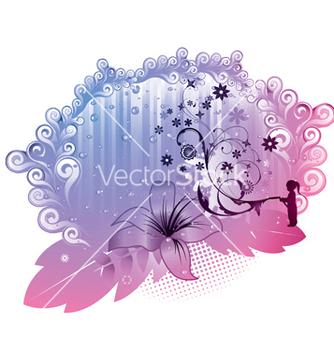 Free abstract floral frame vector - Free vector #252375