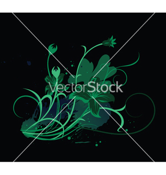 Free floral with splash vector - Free vector #252575
