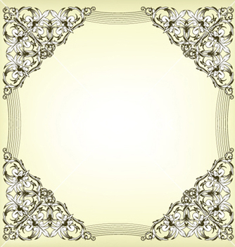 Free baroque floral frame vector - Free vector #252725