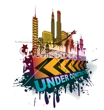 Free under construction sign vector - vector gratuit #252735