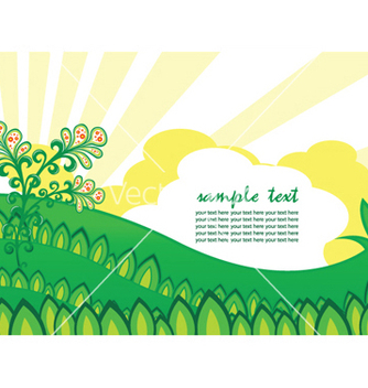 Free easter background with rays vector - vector #252975 gratis