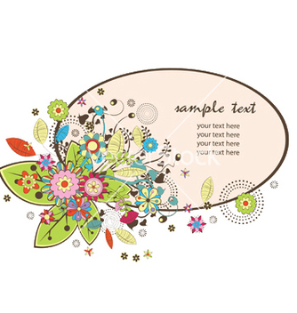 Free floral frame vector - Free vector #252995