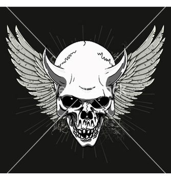 Free tshirt design with skull vector - Free vector #253325