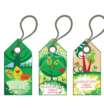 Free spring shopping tags set vector - Kostenloses vector #253345