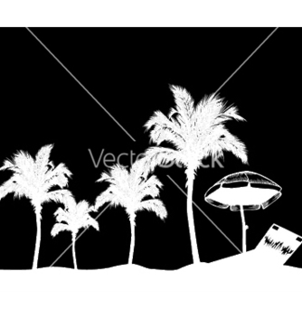 Free summer background with palm trees vector - бесплатный vector #253635
