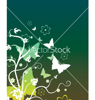 Free floral background vector - бесплатный vector #253995