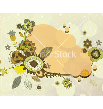 Free abstract floral frame vector - Free vector #254085