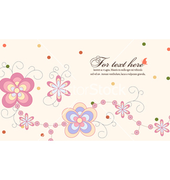 Free spring floral background vector - Kostenloses vector #254095